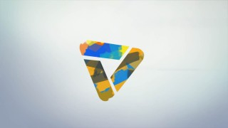 قالب لوگوموشن نقاشی رنگی
